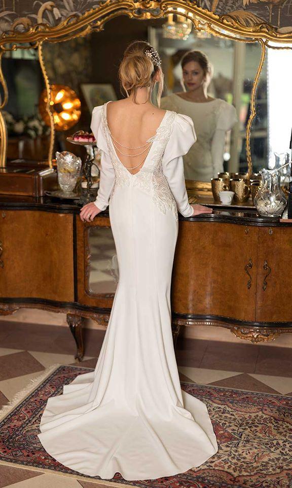 vlečka na svatebních šatech