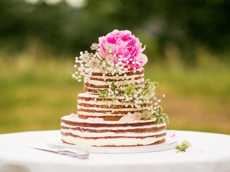 naked nahý svatební dort
