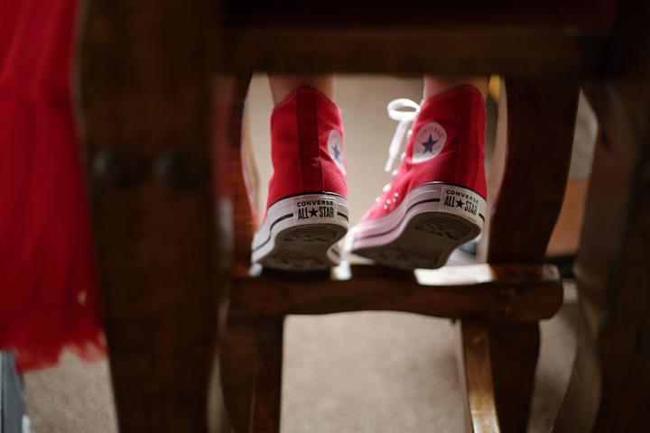 svatební converse boty