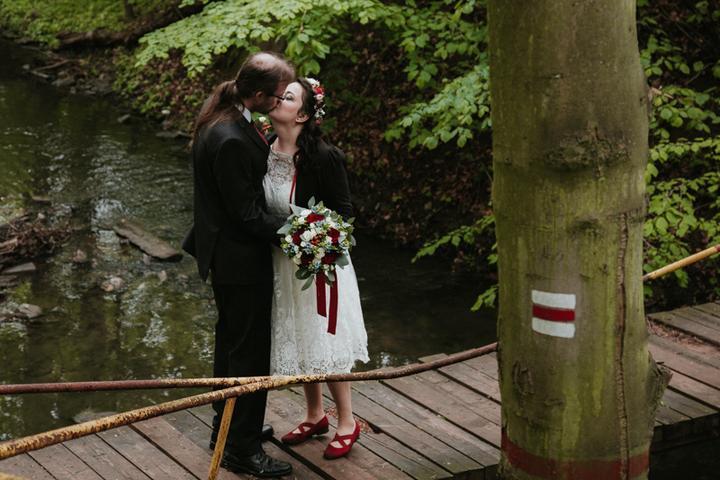 rudá svatba, svatební focení v přírodě