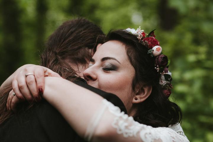 svatební líčení a věneček