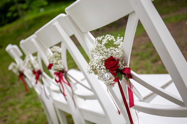 svatební obřad v botanické zahradě