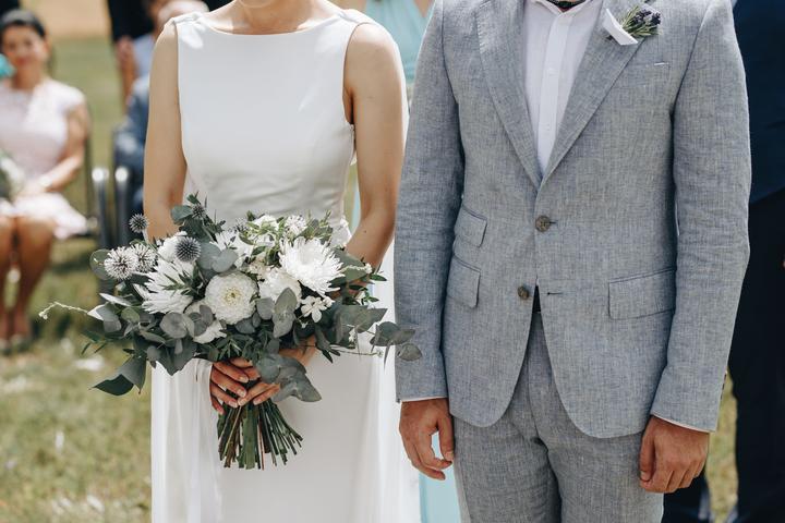 střapatá svatební kytice