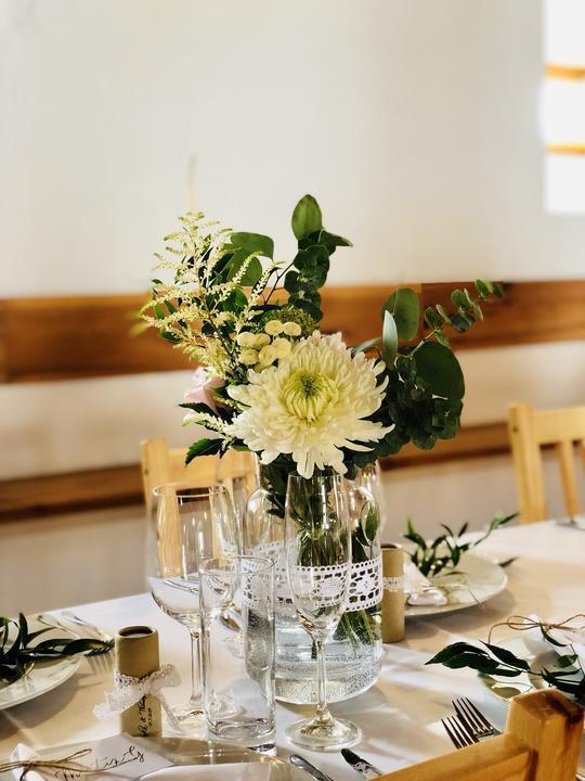 rustikální svatební výzdoba