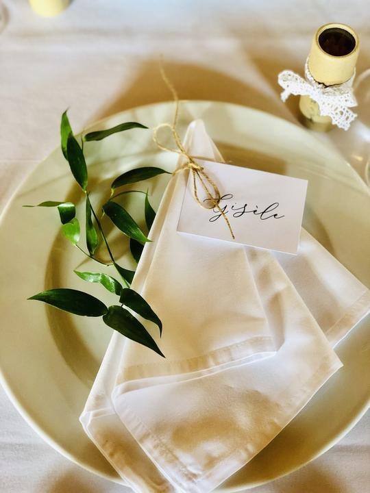 elegantní svatební stolování