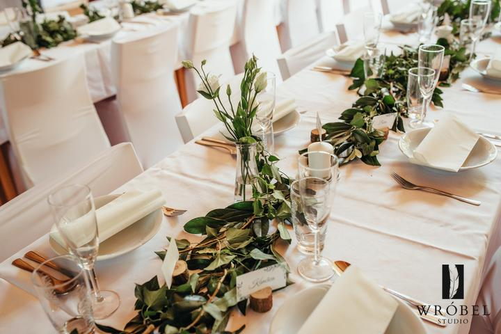greenery svatební výzdoba