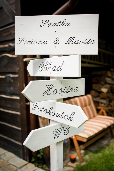 svatební orientační tabulky