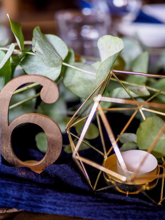 art deco svatební dekorace a doplňky, číslování stolu