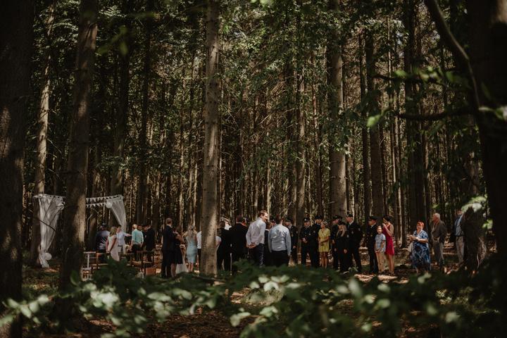 víkendová svatba v přírodě