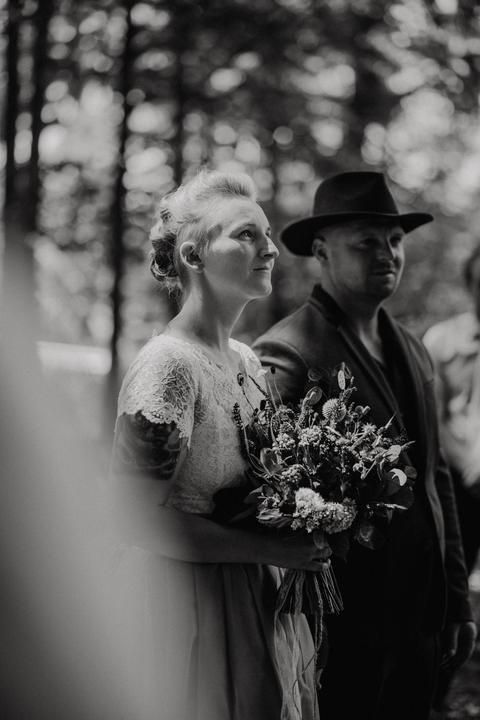 černobílí svatební fotografie