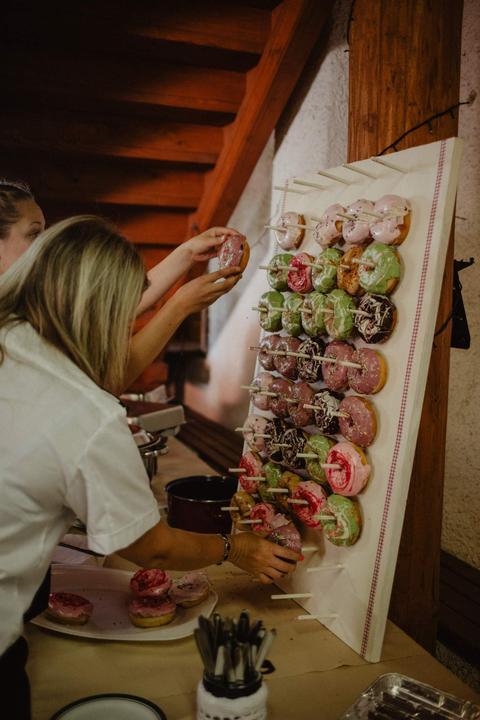 donuty na svatbě