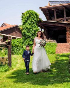 svatba s dítětem