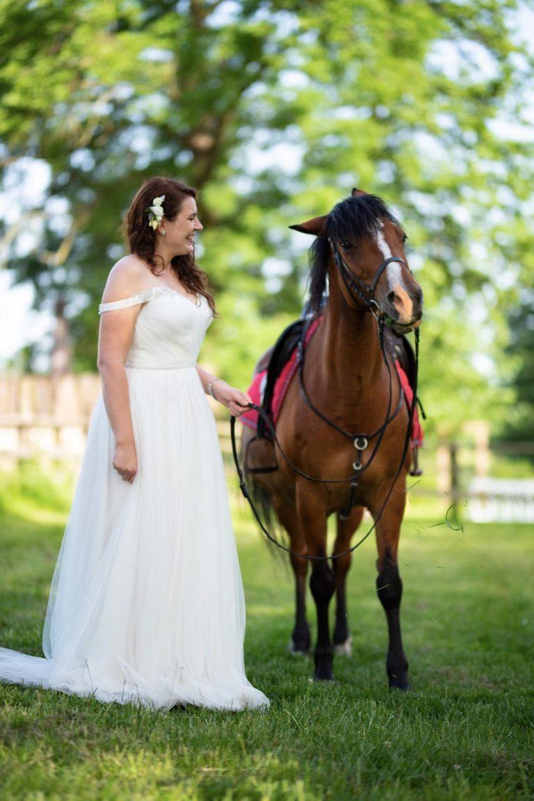 koně na svatbě