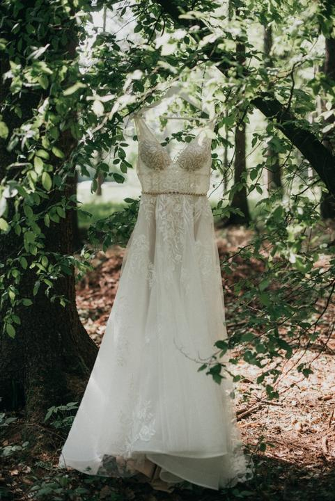 čipkované boho svatební šaty