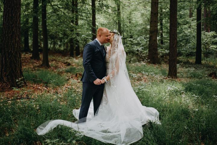 lesní, přírodní svatba