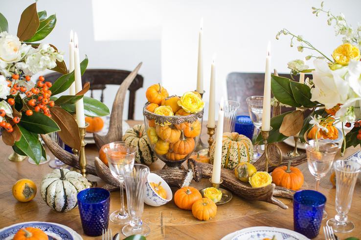 dýně na svatebním stole