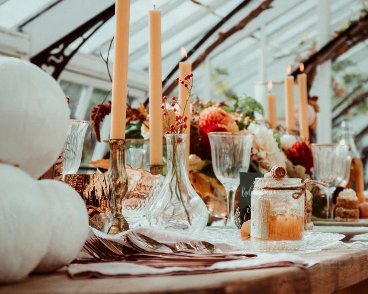 podzimní svatební výzdoba
