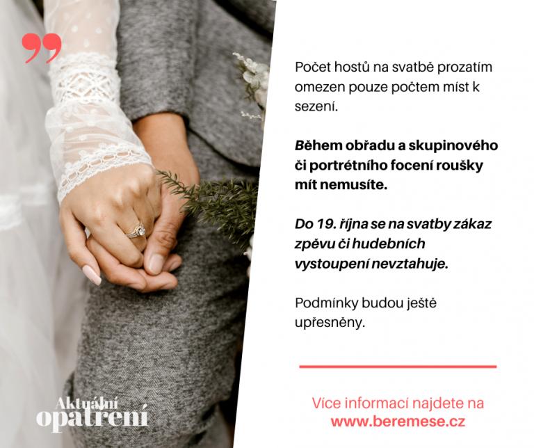 opatření pro svatby od 19.10.