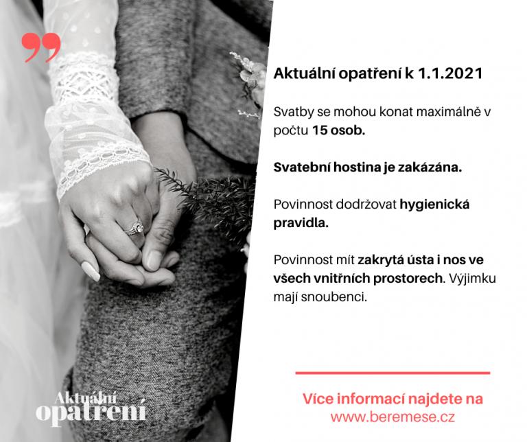 aktuální opatření svatba 2021