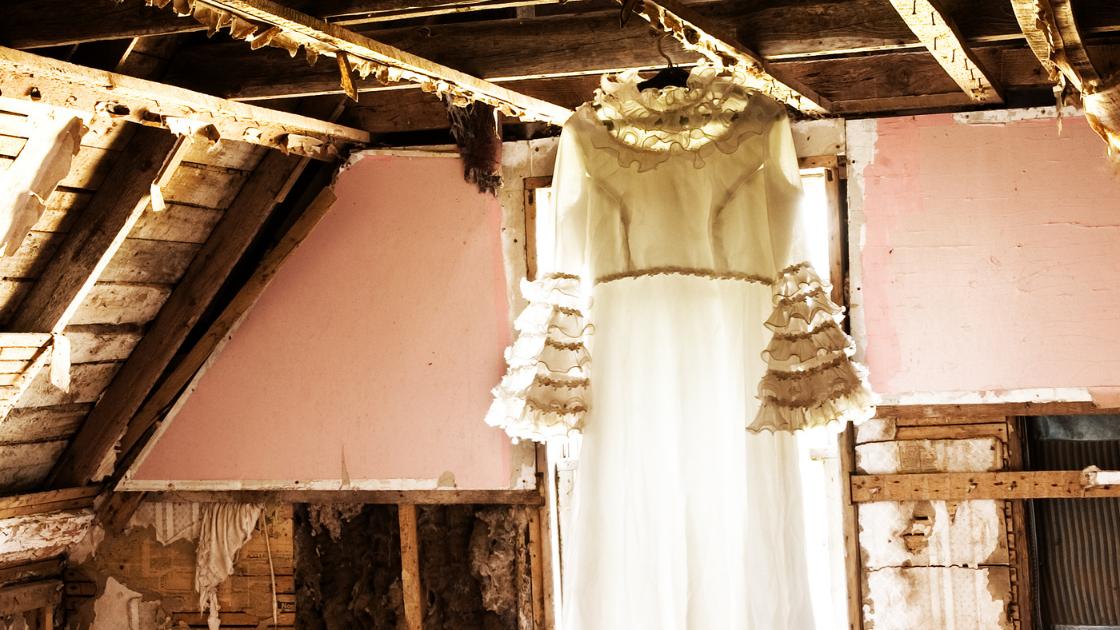 vintage svatební šaty