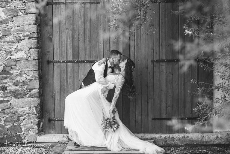 černobílé svatební fotografie
