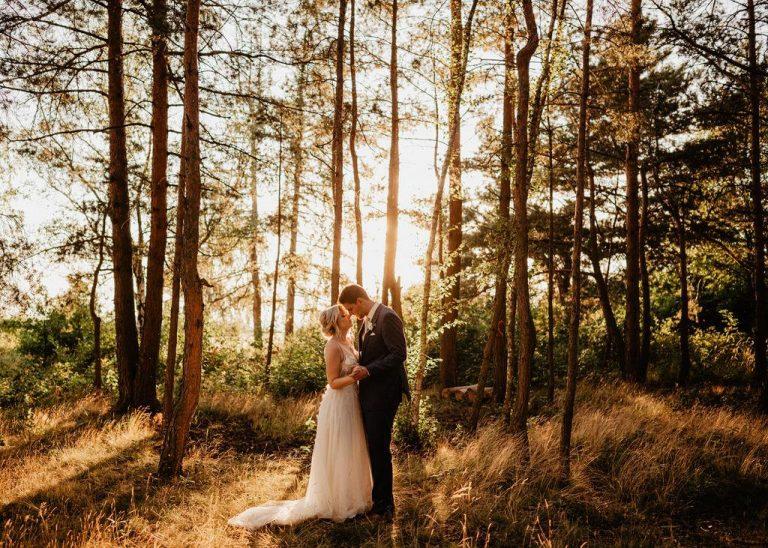 svatební focení v lese