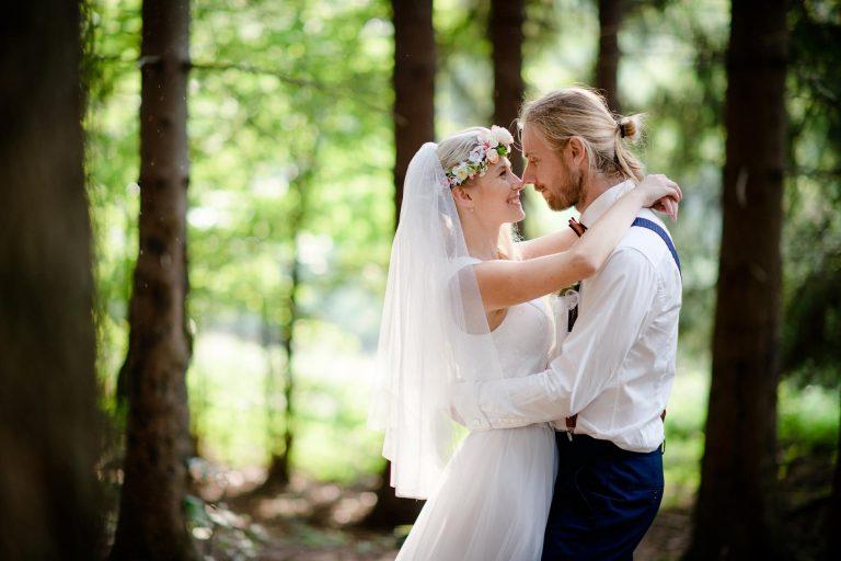 jednoduchá svatební výzdoba