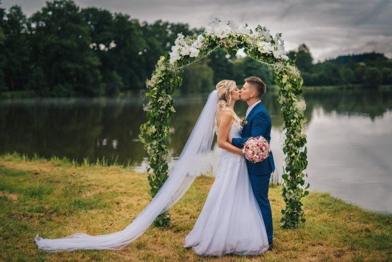 svatební focení u jezera