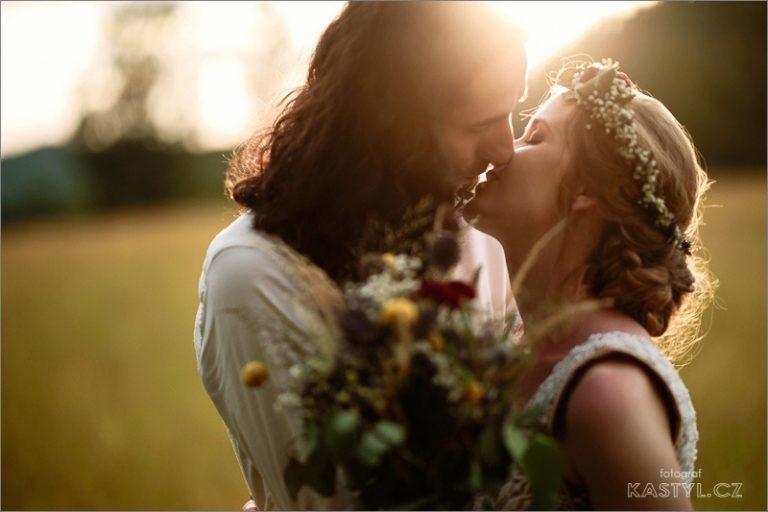 romantické svatební focení