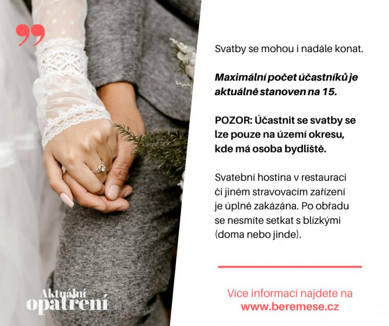 Pravidla a doporučení pro svatby